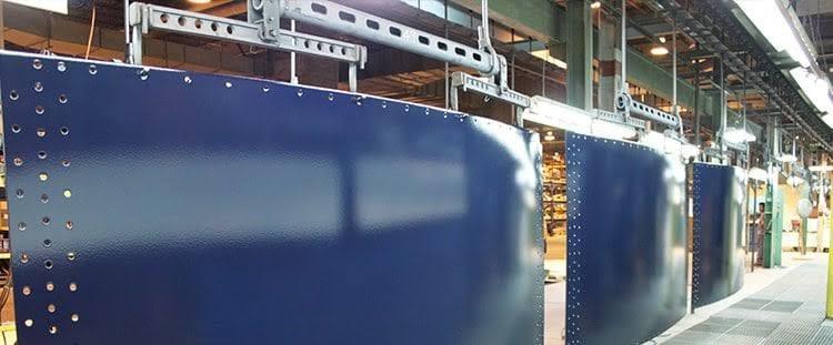 Single Steel panels of bolted steel tank