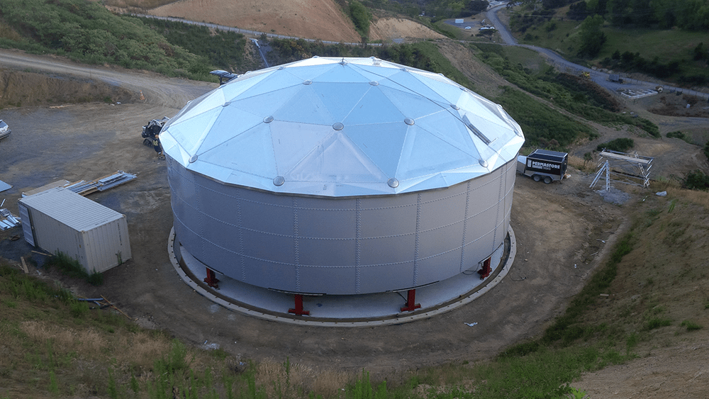Geodesic Dome Tank Roof